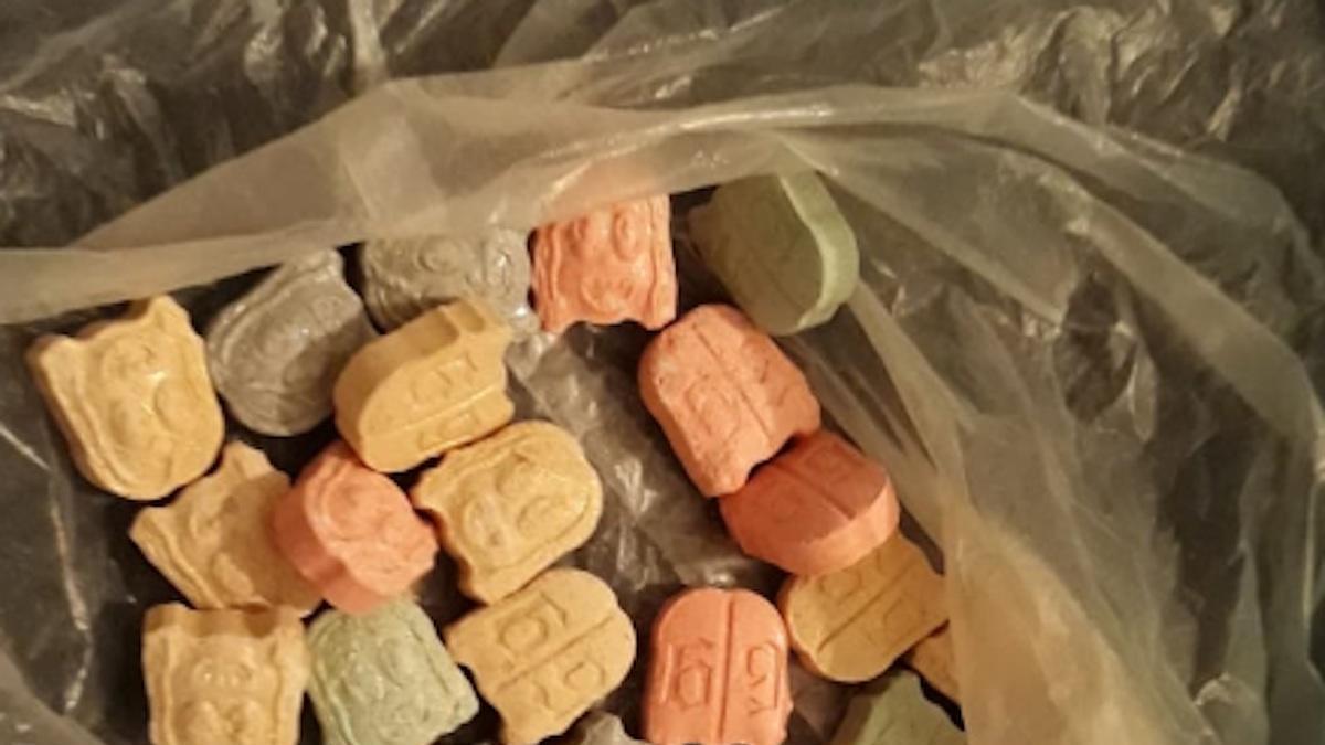 Parte de la droga incautada.