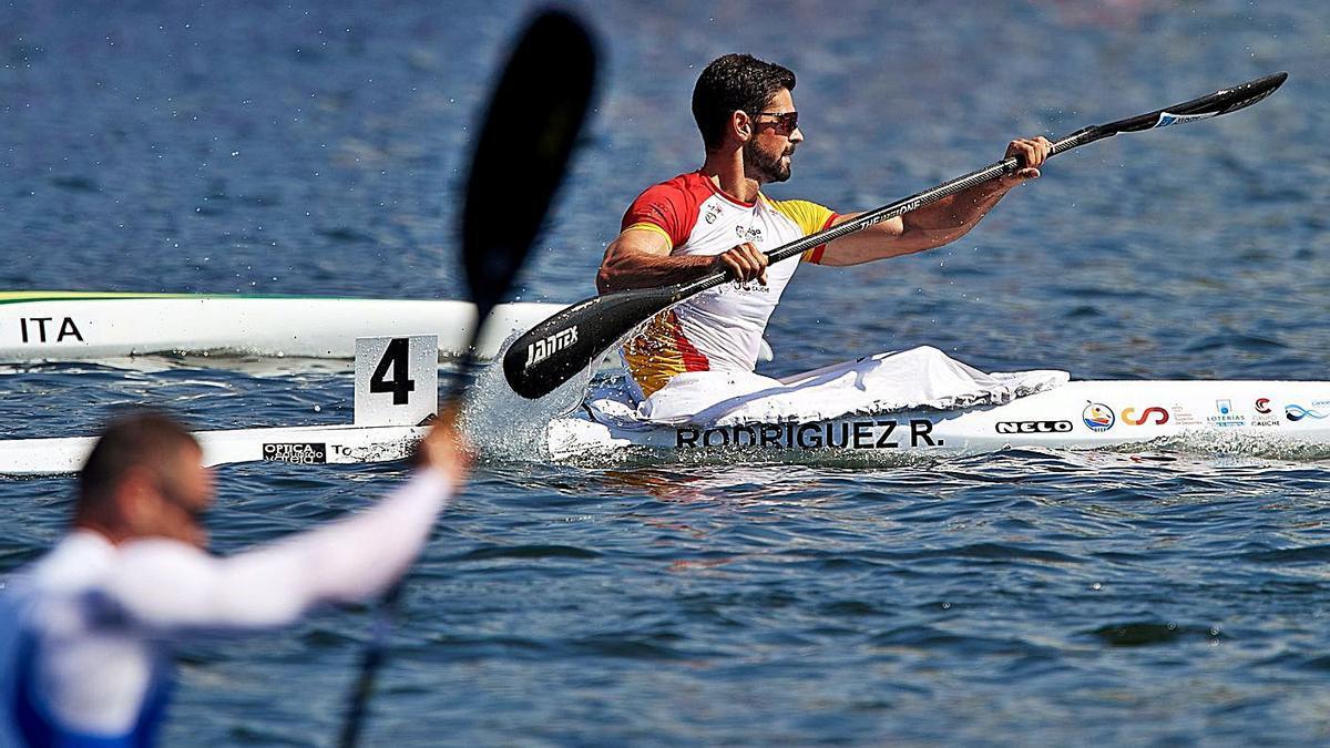 Roi Rodríguez, durante una prueba reciente. // EFE