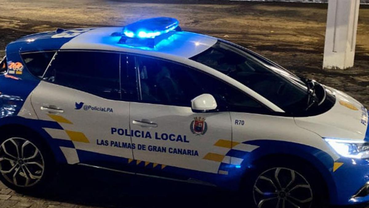 Un vehículo de la Policía Local de Las Palmas de Gran Canaria