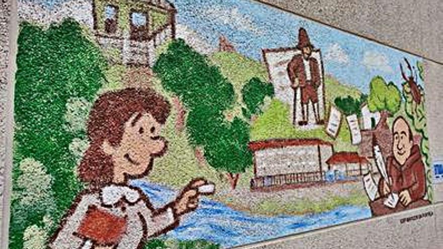 """El décimo mural de """"O teu cole na historia"""", en el Marcos da Portela"""