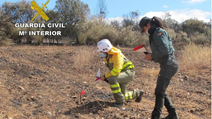 Identificados dos posibles autores del incendio de Valdescorriel (Zamora)