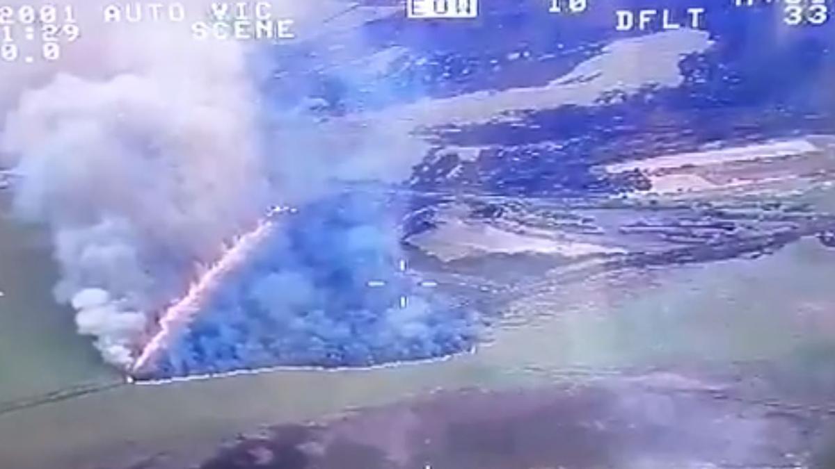 Incendio de s'Albufera a vista de pájaro