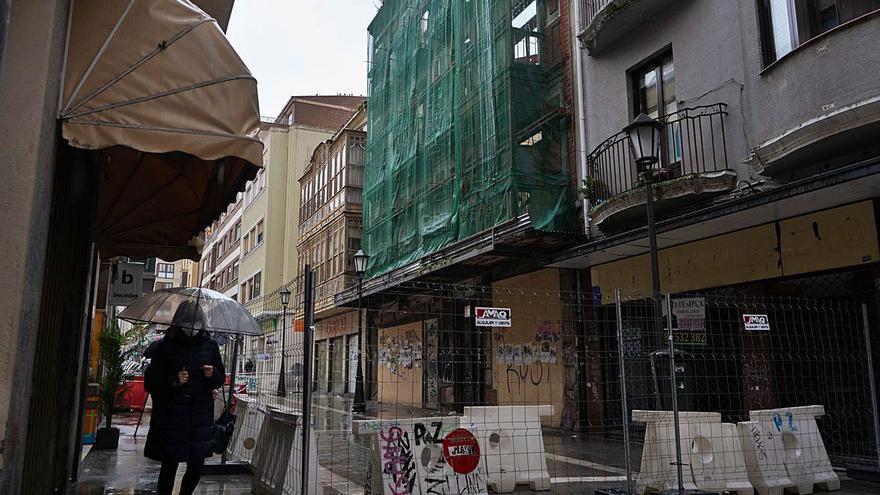 Un nuevo andamio apoya la consolidación del edificio de San Torcuato en Zamora