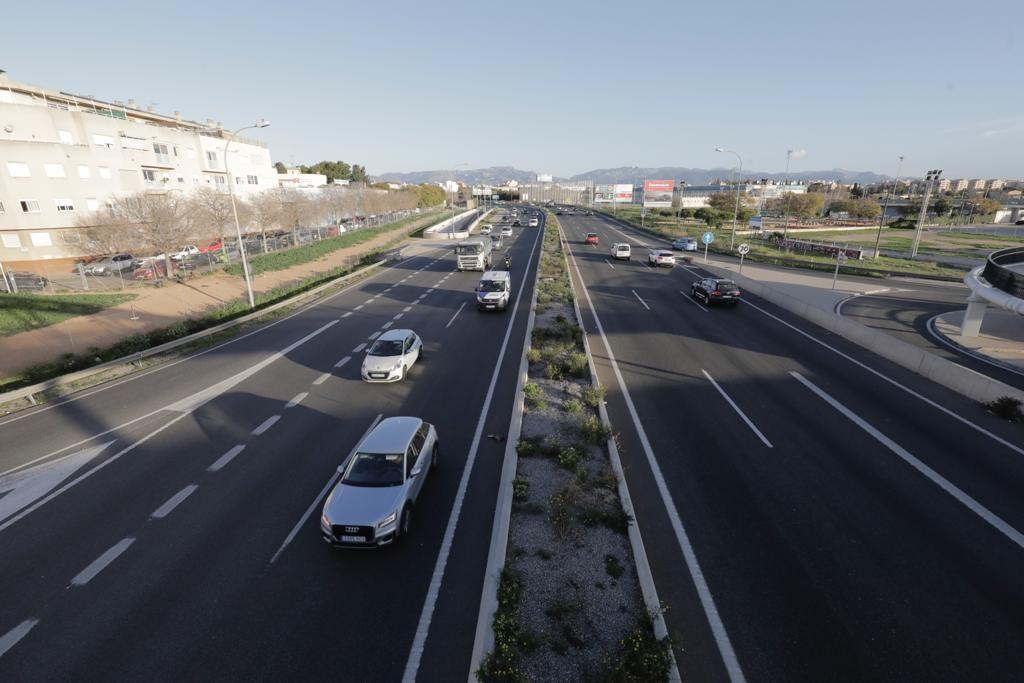 Primer día de límite de velocidad a 80 km/h en la Vía de Cintura de Palma