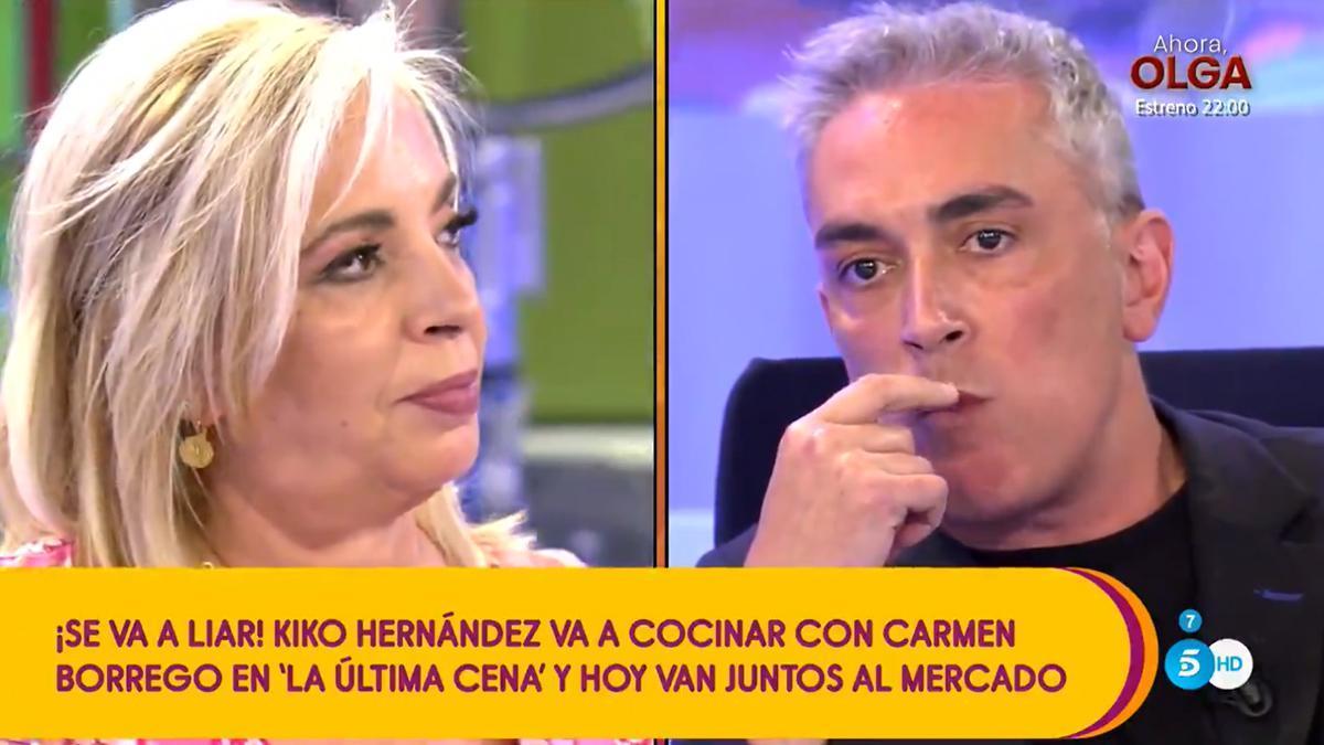 Carmen Borrego cocinará en 'La última cena' junto a su 'enemigo' Kiko Hernández.
