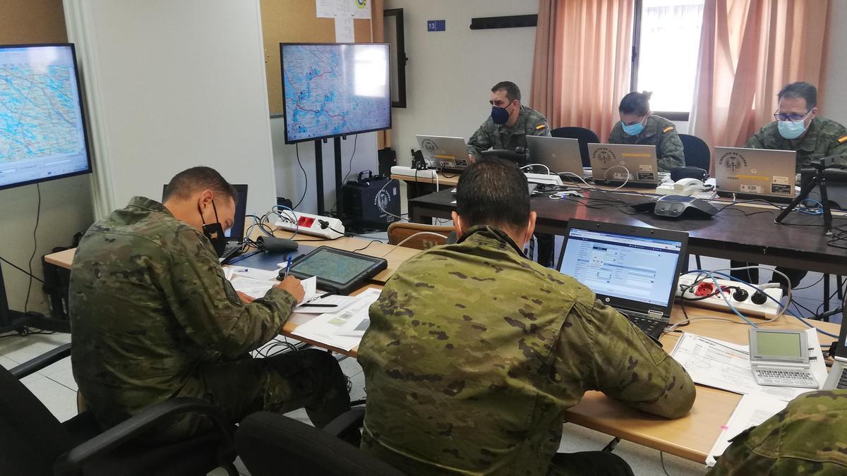 La Brigada Guzmán el Bueno X, durante el ejercicio.