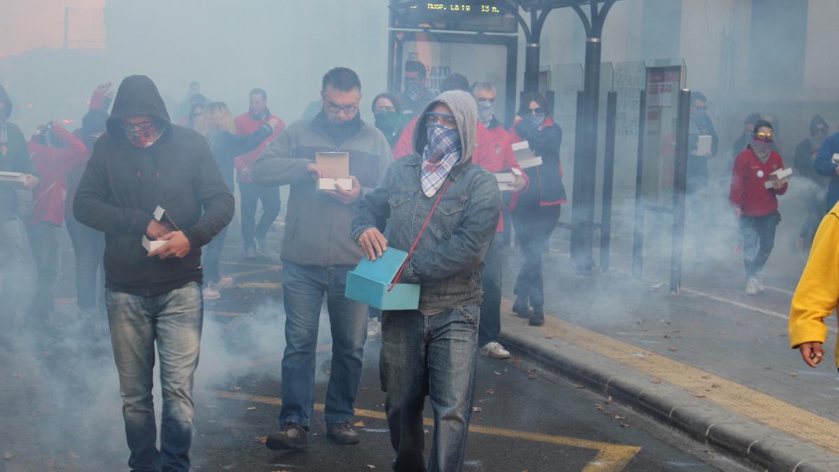 Despertà de la Agrupación Centro, celebrada un par de días antes de la suspensión de las Fallas