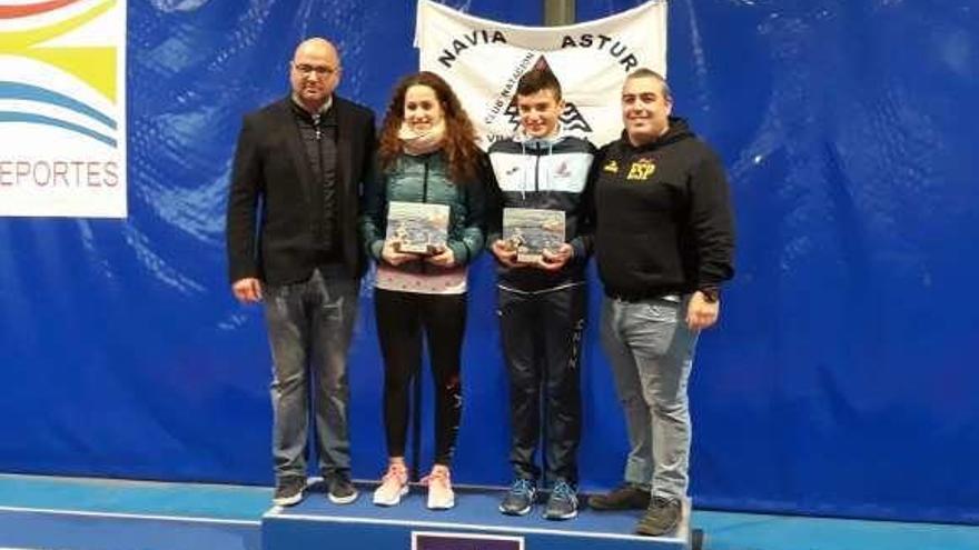 Lucas Fernández y Laura Lorenzo, ganadores en Navia