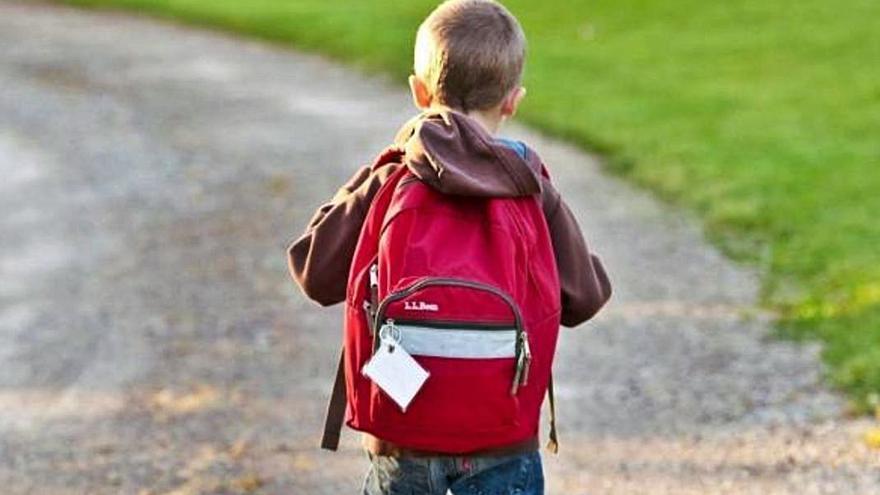 El peso tope de la mochila escolar