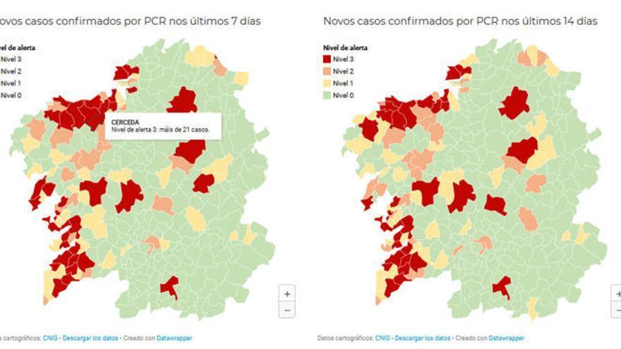 Cerceda se suma a los concellos de A Coruña en alerta roja por el Covid