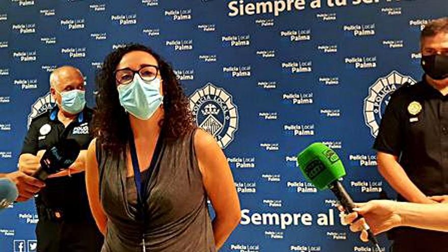 La Policía continúa el control contra los botellones  en Palma