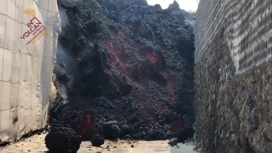 Los rescatadores rescatados de la lava del volcán de La Palma