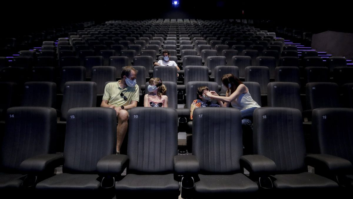 Una sala de Kinépolis durante la pandemia.