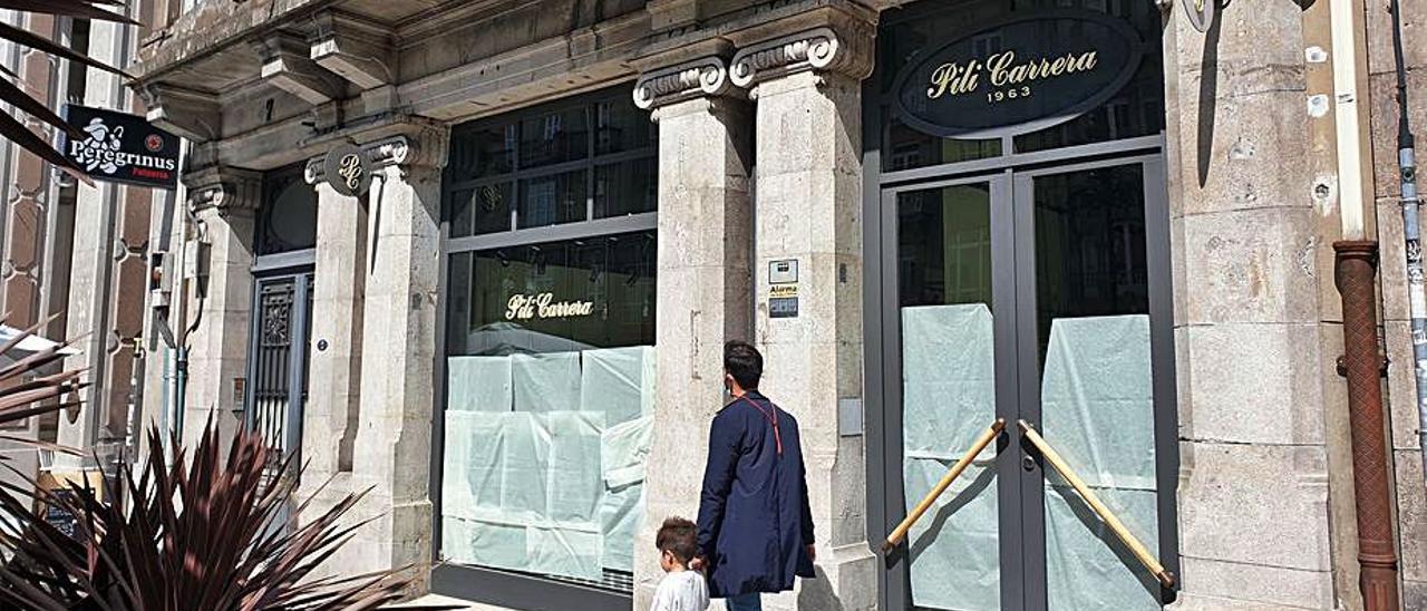 Antigua tienda de Pili Carrera en Vigo.    // MARTA G. BREA