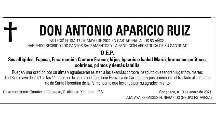 D. Antonio Aparicio Ruiz