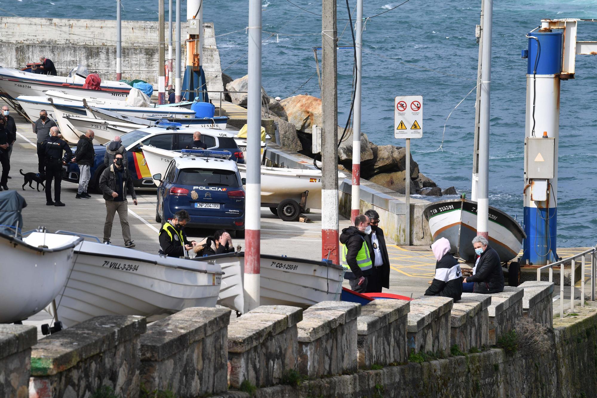 Hallado el cadáver de un pescador en O Portiño