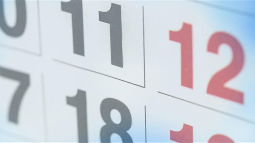 L'any 2019 comptarà amb 14 festius a nivell estatal