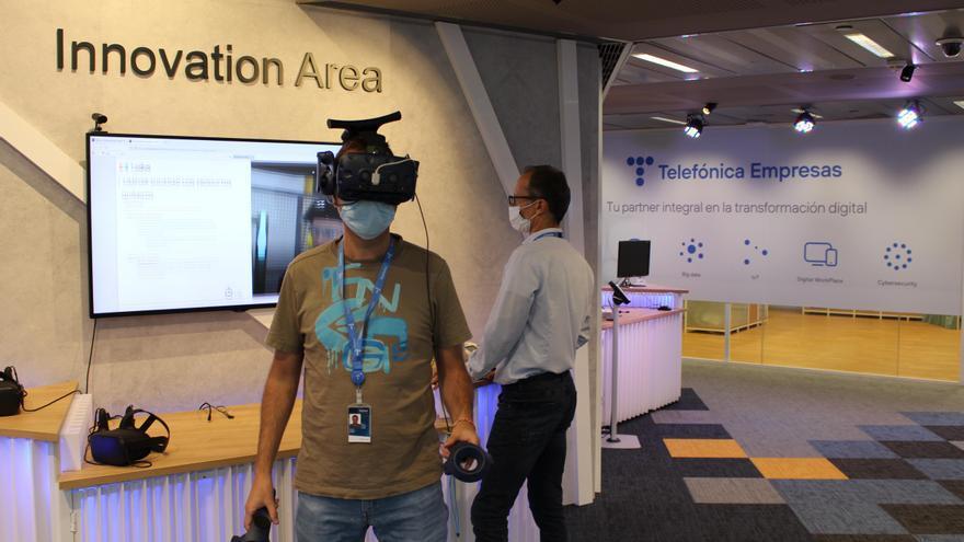 Telefónica muestra en Zaragoza durante dos días su Centro de Innovación Tecnológica