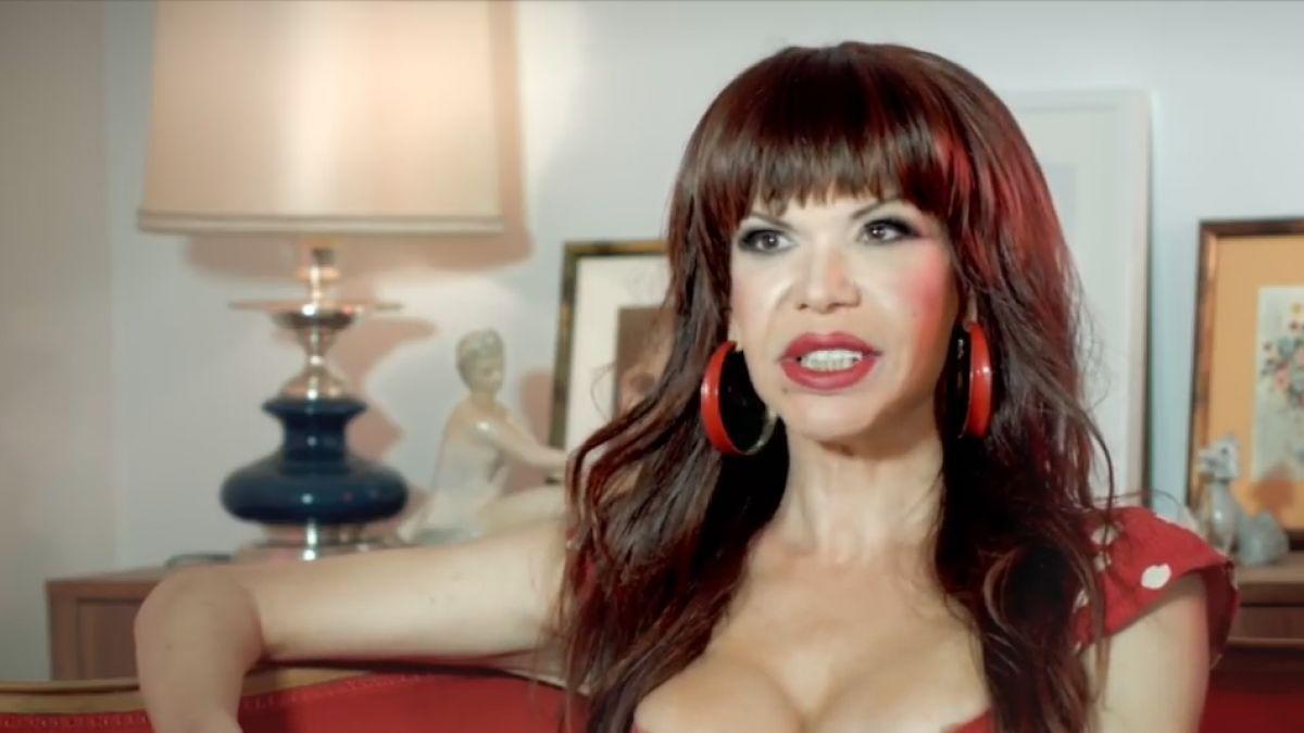 La Veneno durante una de sus últimas entrevistas en televisión.
