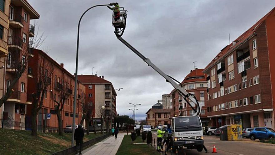 Renovación de 200 puntos de luminarias en Benavente para apostar por la tecnología led