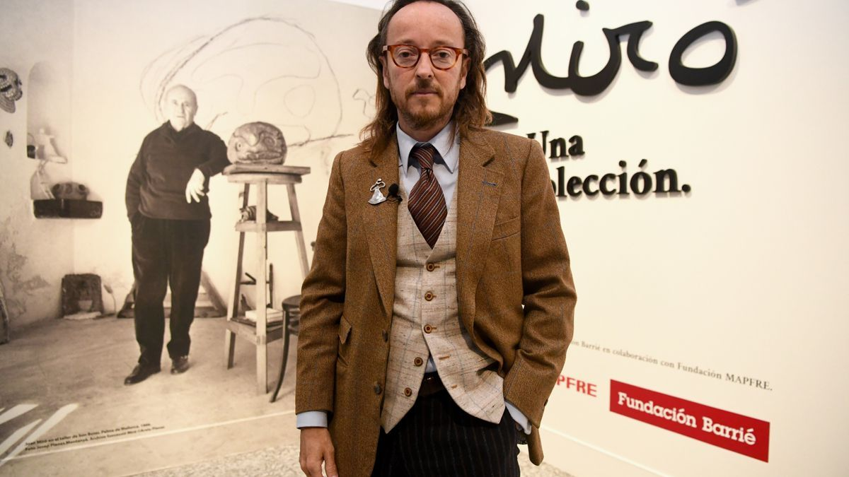 El nieto de Miró, ayer, en la Fundación Barrié