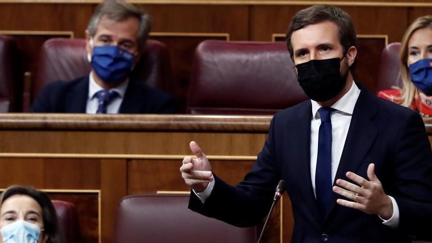 """Casado: """"La moción a Rajoy se basó en una mentira"""""""