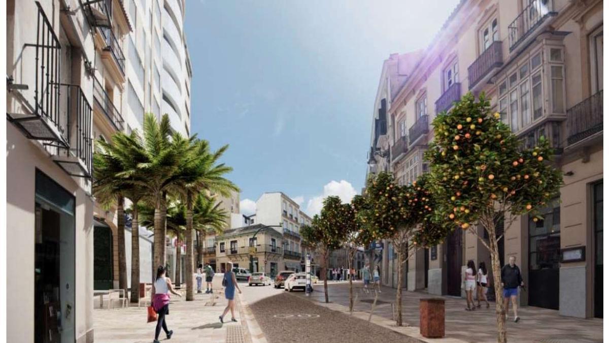 Una imagen del proyecto de peatonalización de la calle Carretería.