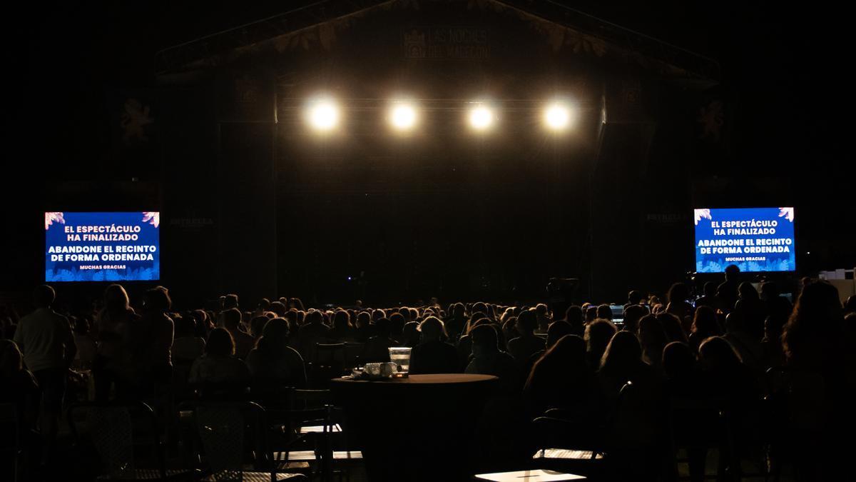 Momento del concierto de Sergio Dalma.