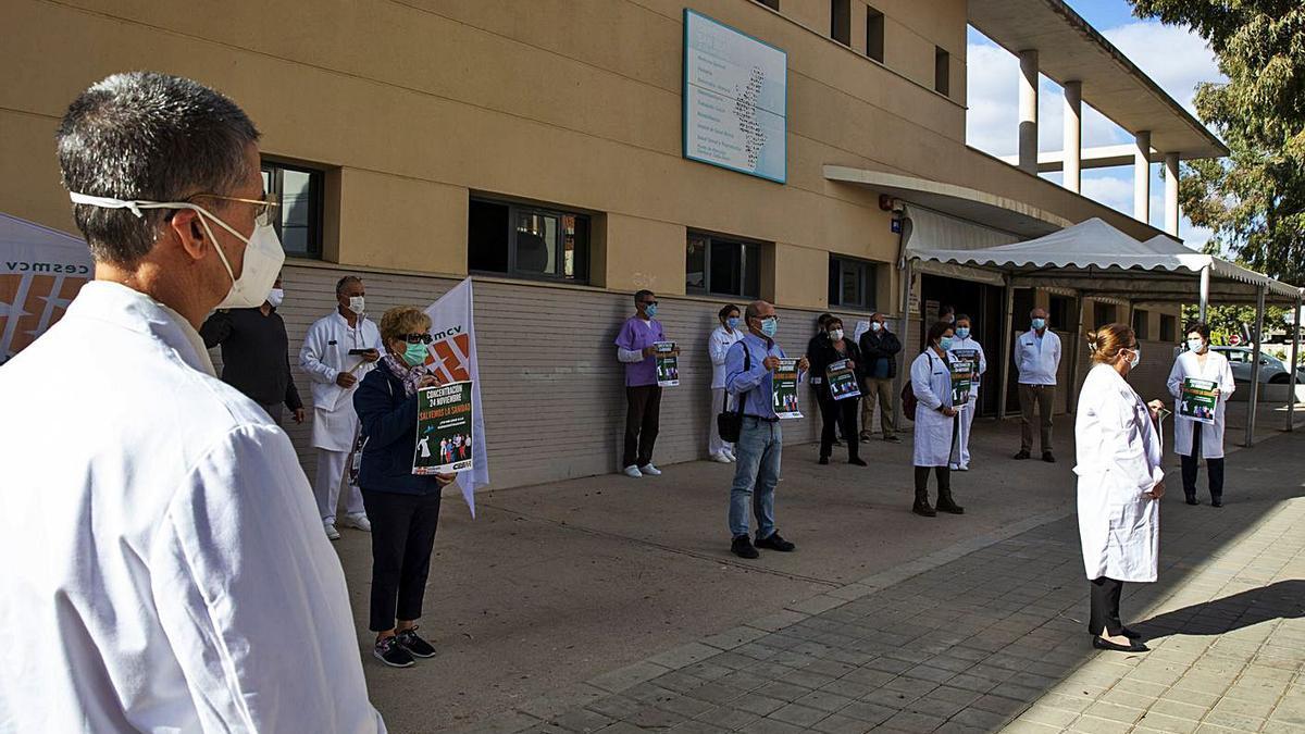 Una protesta del personal sanitario de la provincia, en una imagen reciente.