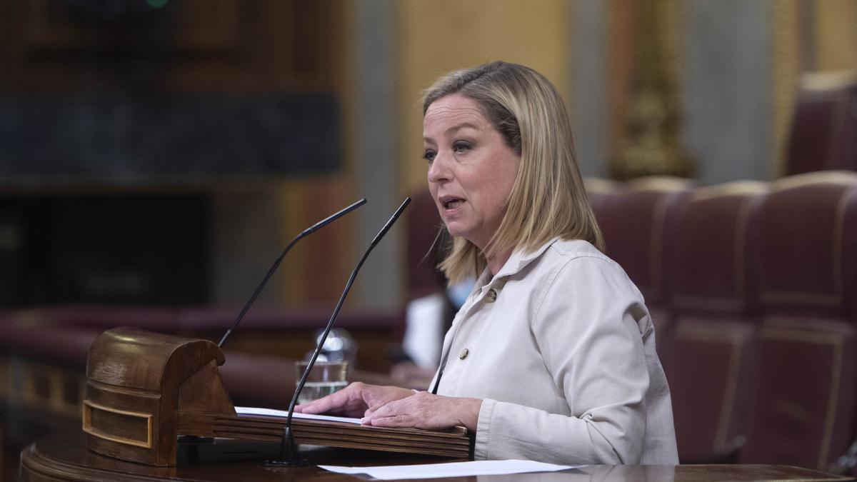 La diputada de Coalición Canaria, Ana Oramas, interviene en el Congreso.