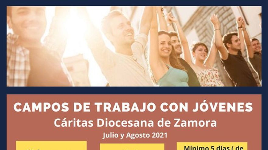 Cáritas Zamora ofrece campos de trabajo para jóvenes en verano