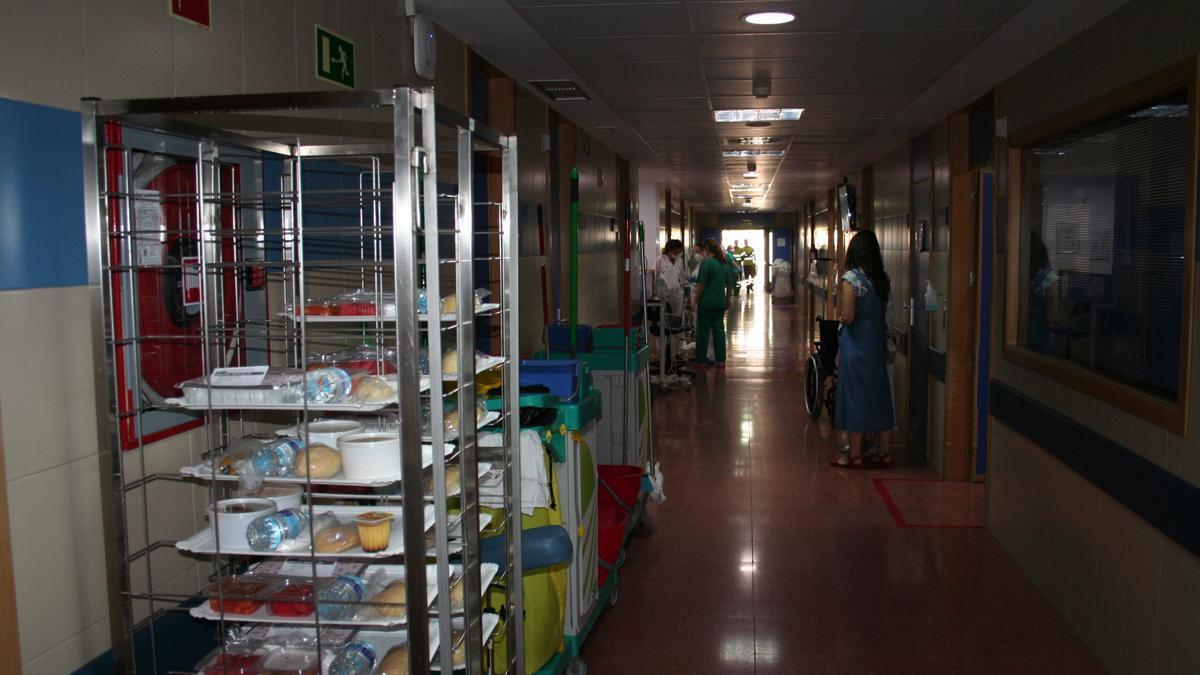 Pasillo de Urgencias del Hospital Rafael Méndez.