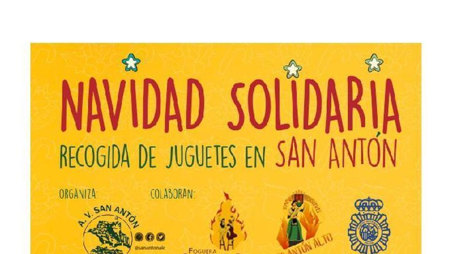 Recogida solidaria de juguetes en San Antón