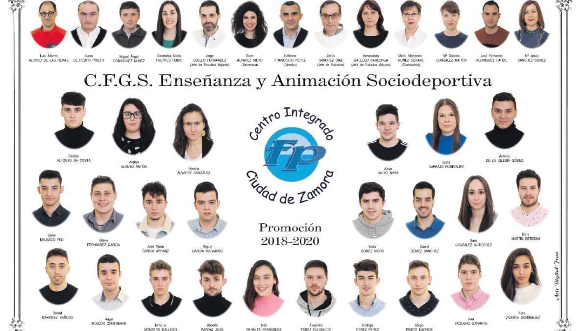 Descarga ya la orla del Grado de Enseñanza y Animación Sociodeportiva del CIFP Ciudad Zamora