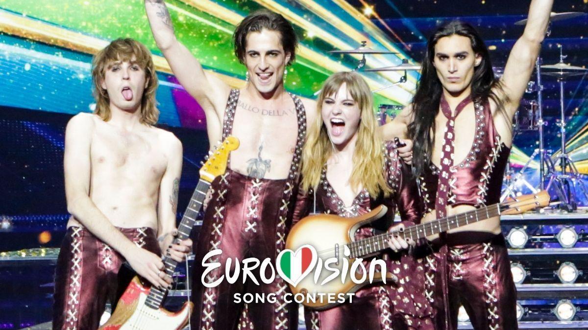 Måneskin, representantes de Italia y ganadores de Eurovisión 2021.