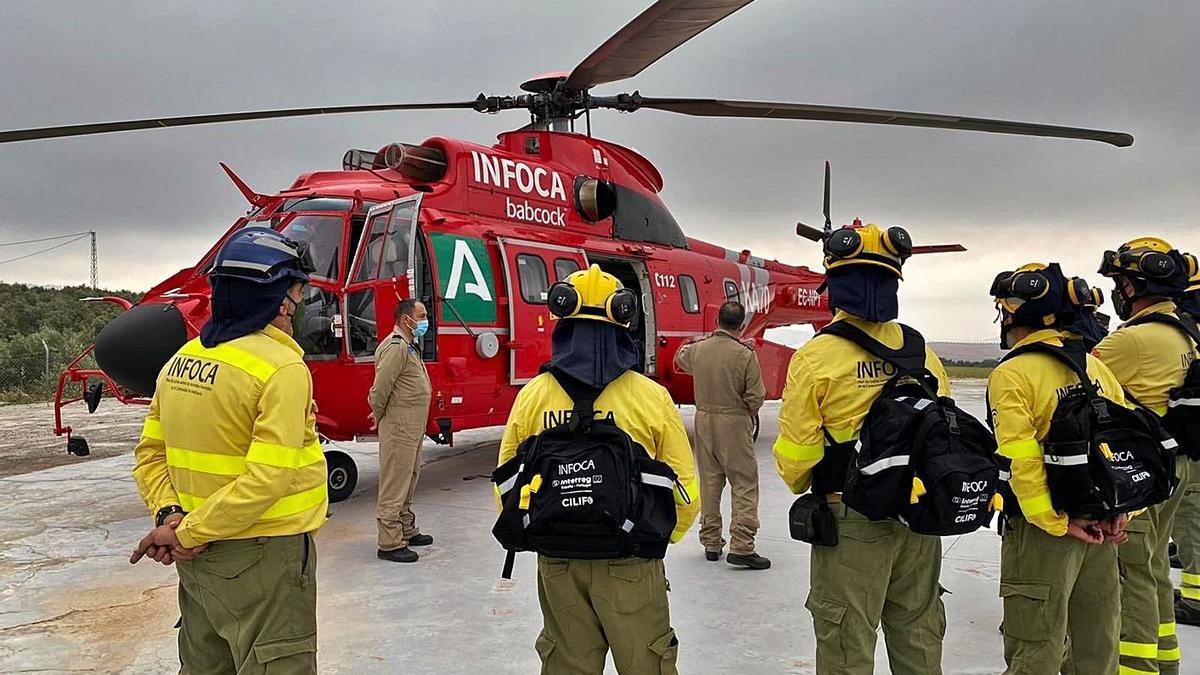 El nuevo helicóptero tendrá su base en la Brica de Cártama.