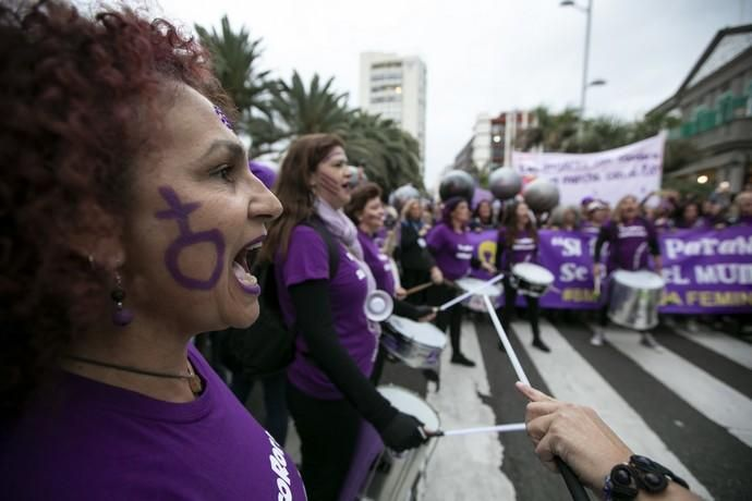 08.03.19. Las Palmas de Gran Canaria. Manifestación Día de la Mujer 8M. Foto Quique Curbelo