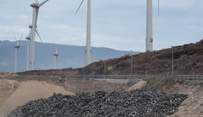 Retiradas 2.500 toneladas de neumáticos en Arico