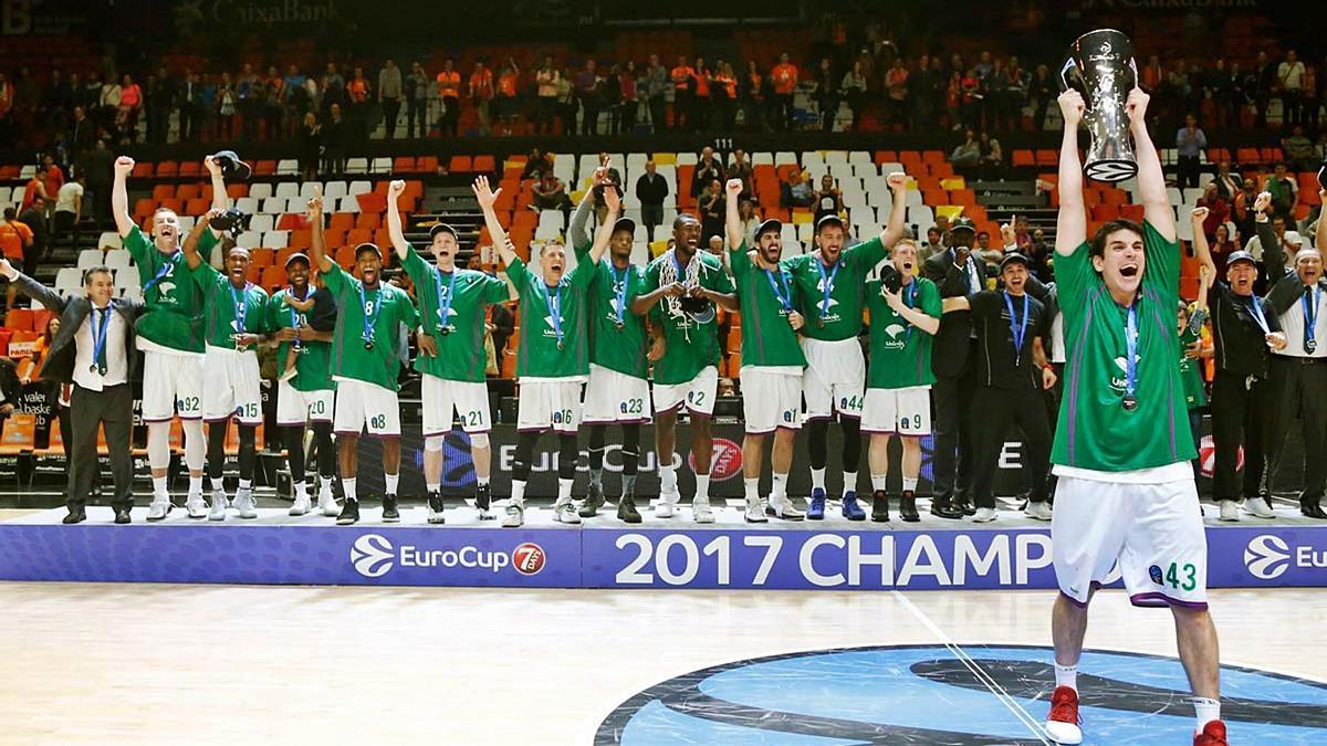 El Unicaja ganó la Eurocup 2016/2017, la primera vez que jugó esta competición. | EUROCUP