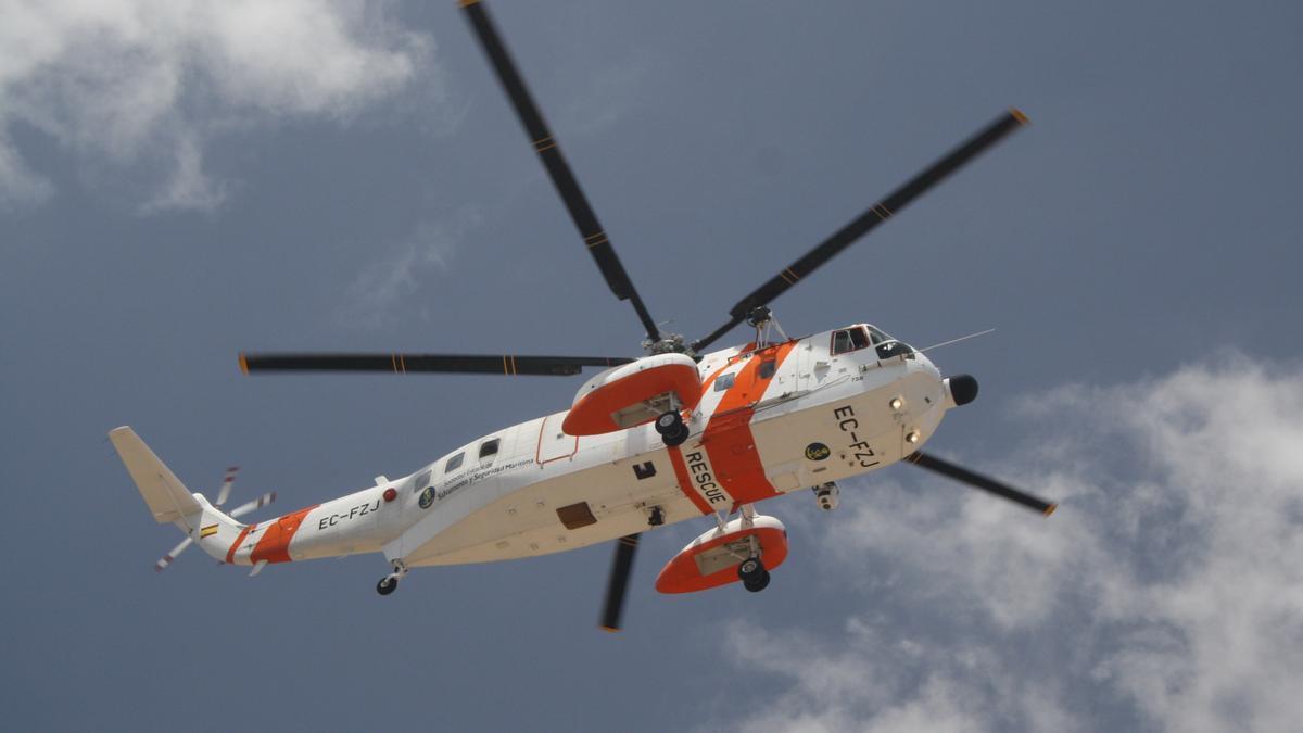 Archivo - Helicóptero de Salvamento Marítimo