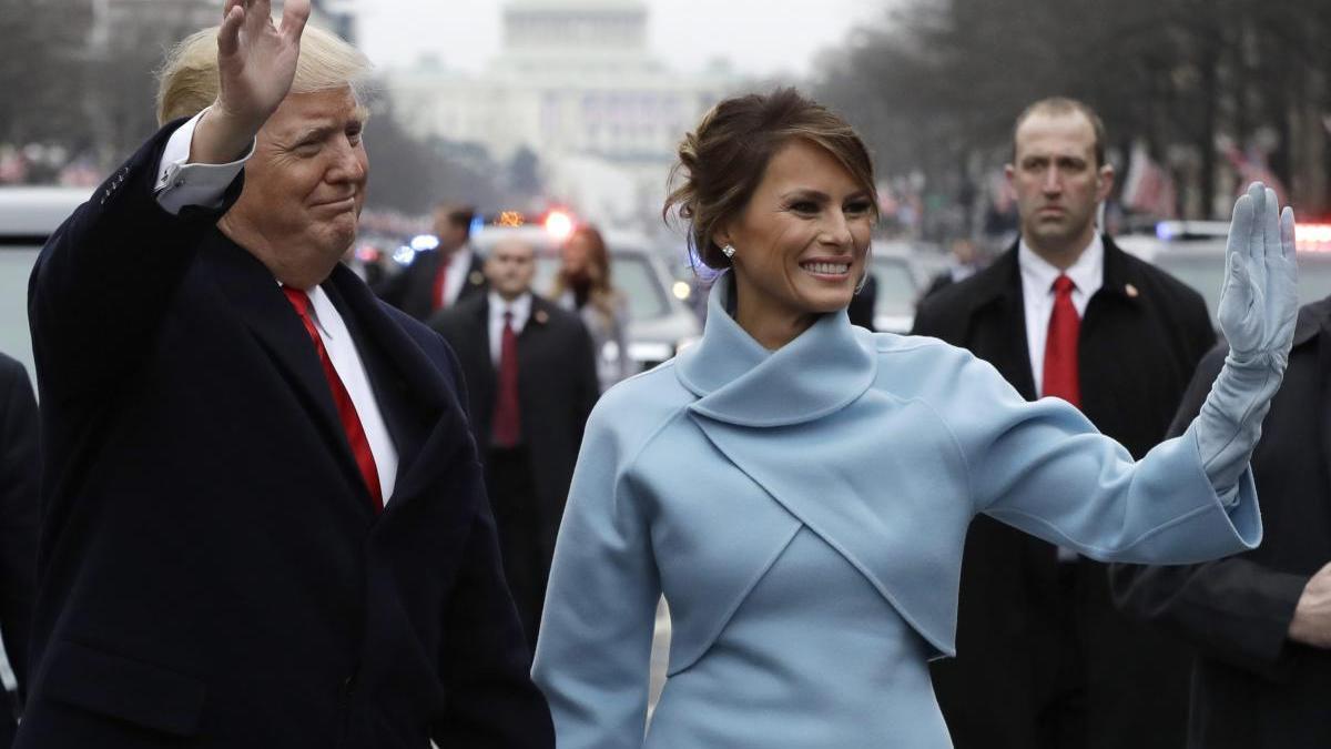 Una imagen de la primra dama estadounidense, Melania Trump, junto al presidente Donald.
