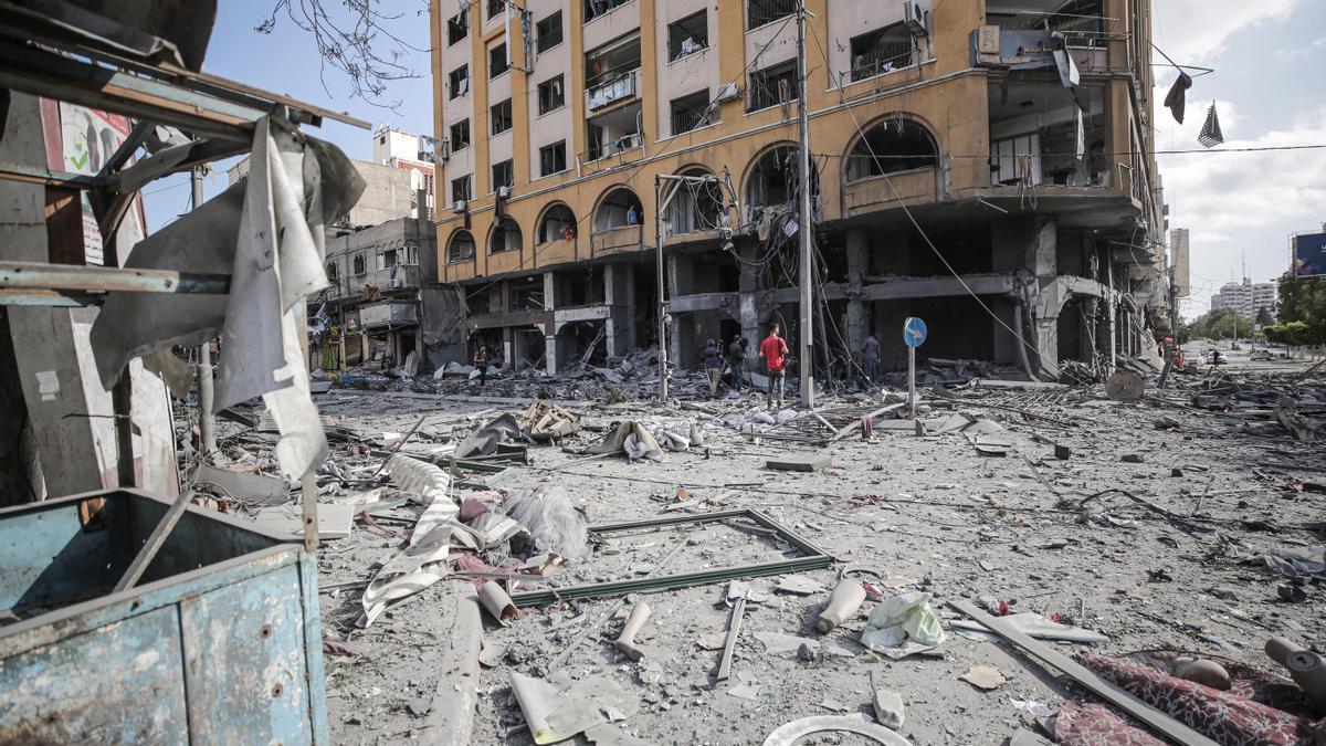 Daños causados por los enfrentamientos entre Israel y Palestina.
