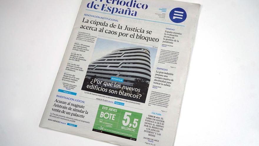 'El Periódico de España', un diseño que refleja su espíritu sencillo y cercano