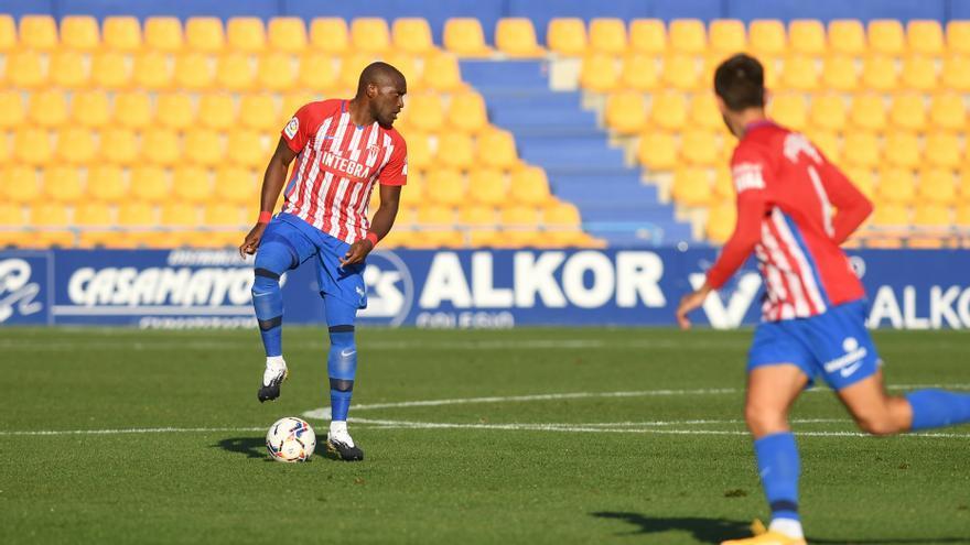 El partido entre el Alcorcón y el Sporting, en imágenes