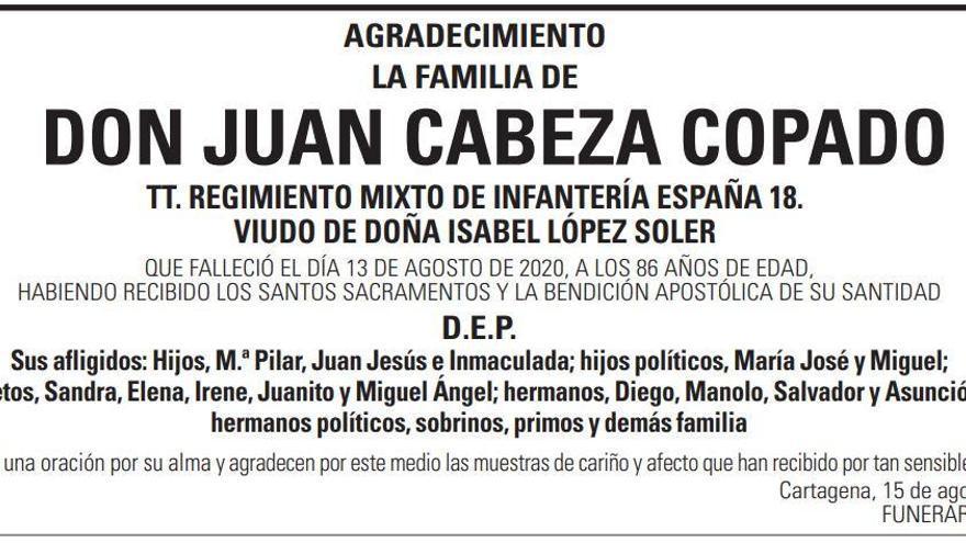 D. Juan Cabeza Copado