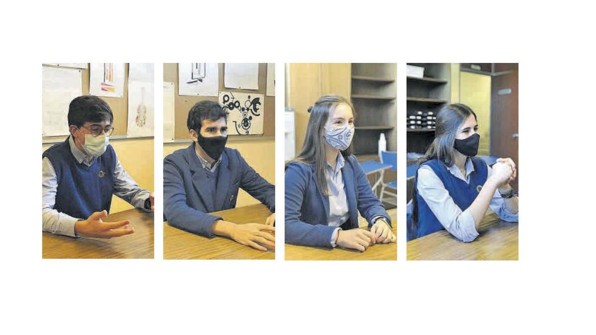 De izquierda a derecha, Fernando Leal, Alejandro García, Laura García y Beatriz Nicieza. |