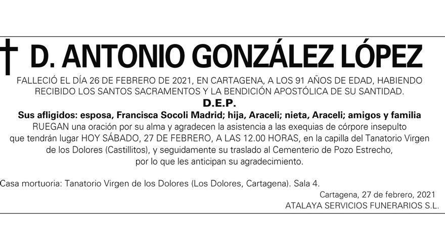 D. Antonio González López