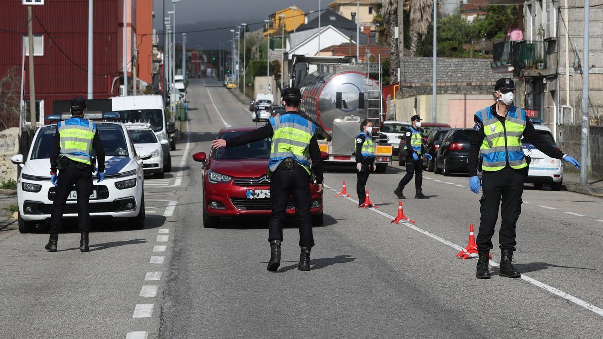 Imagen de archivo de un control en la avenida de Galicia