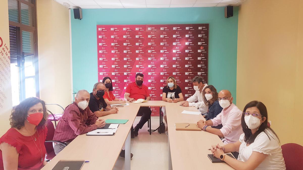 Reunión de las comisiones ejecutivas de UGT y CCOO de Córdoba.