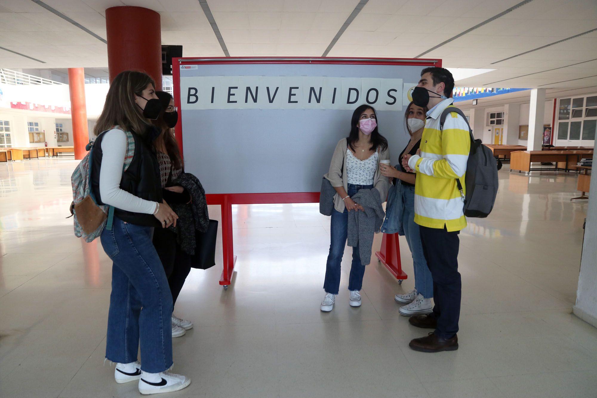 Los alumnos vuelven a las aulas de la Universidad de Málaga